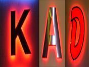 Обемна буква K A D