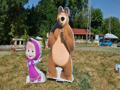 Маша и мечока обемни фигури от стиропор и пластмаса цена: 80.00