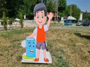 Обемни фигури 3Д за първия учебен ден от стиропор и пластмаса