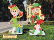Украса за Коледа - Коледни елфи - 95см, 80лв/бр - двустранно