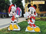 Коледна композиция 3Д фигури на Мики и Муни Маус - 95см. Стойка 15лв/бр