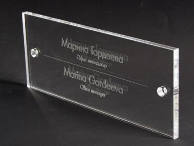 Табелка от стъкло