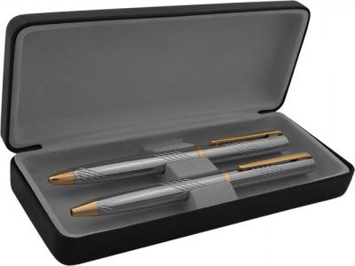 MPB-004+LX-004+LX-004R  Химикалка и ролер в кожена кутия