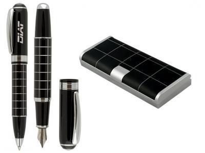 LRBP-1269  Химикалка и писалка в кожена кутия