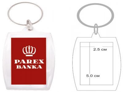 PKCH-1004A  Пластмасов ключодържател с капак