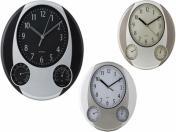WLC-164  Ø31 см Стенен часовник с термометър и хидрометър