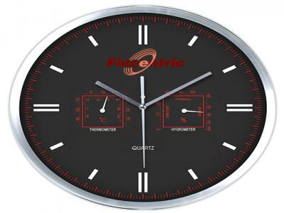 WLC-2412A  Ø28 см Стенен часовник с термометър и хидрометър