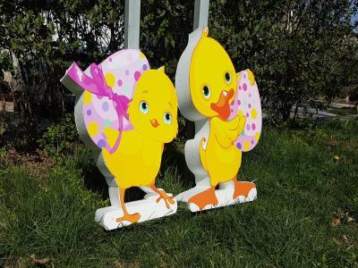 Декорация за Велик ден - яйца, патета, зайци, миньони